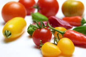 tomatoes, paprika, vegetables